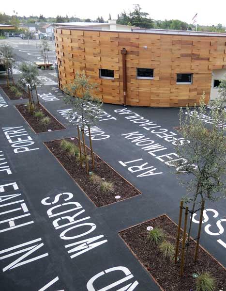 Education, innovative, outdoor space, public art, architecture, Bay Area