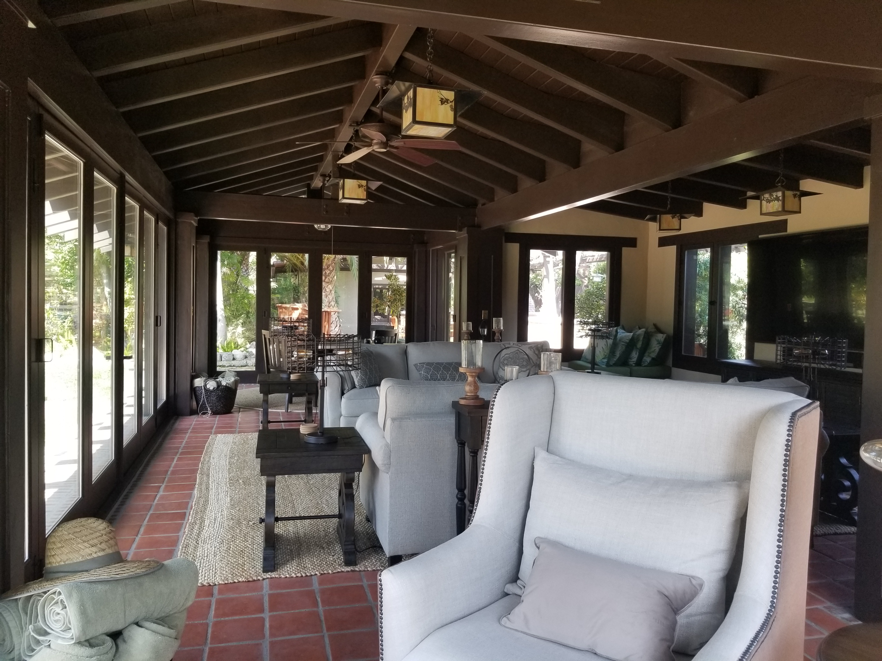 Grand Ave Pool House interior view