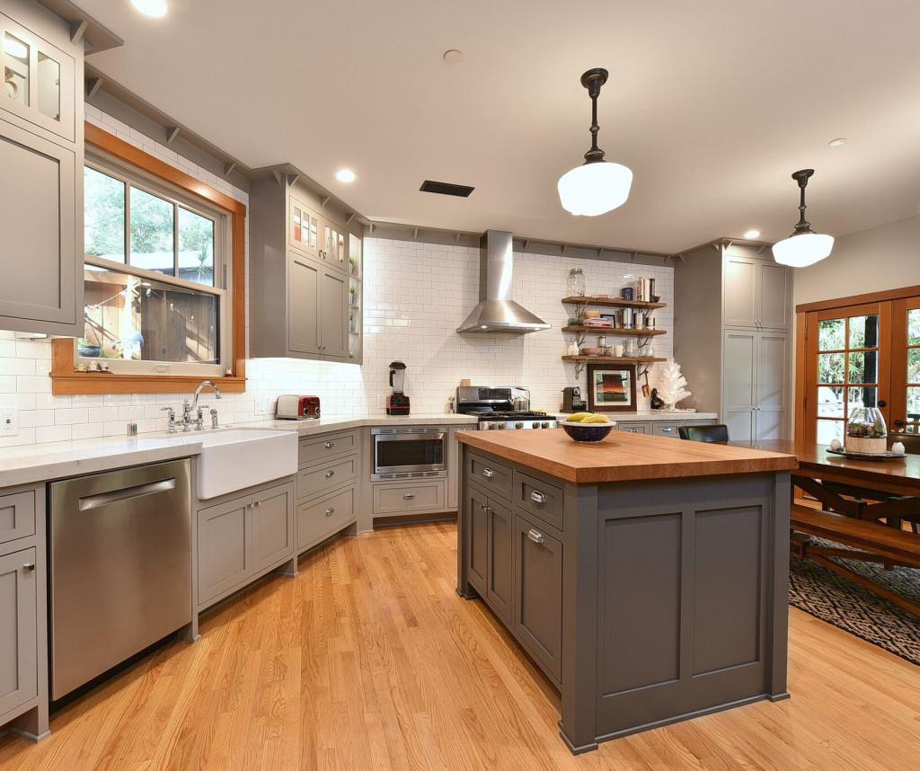 Sierra Madre Residential Craftsman Kitchen Remodel