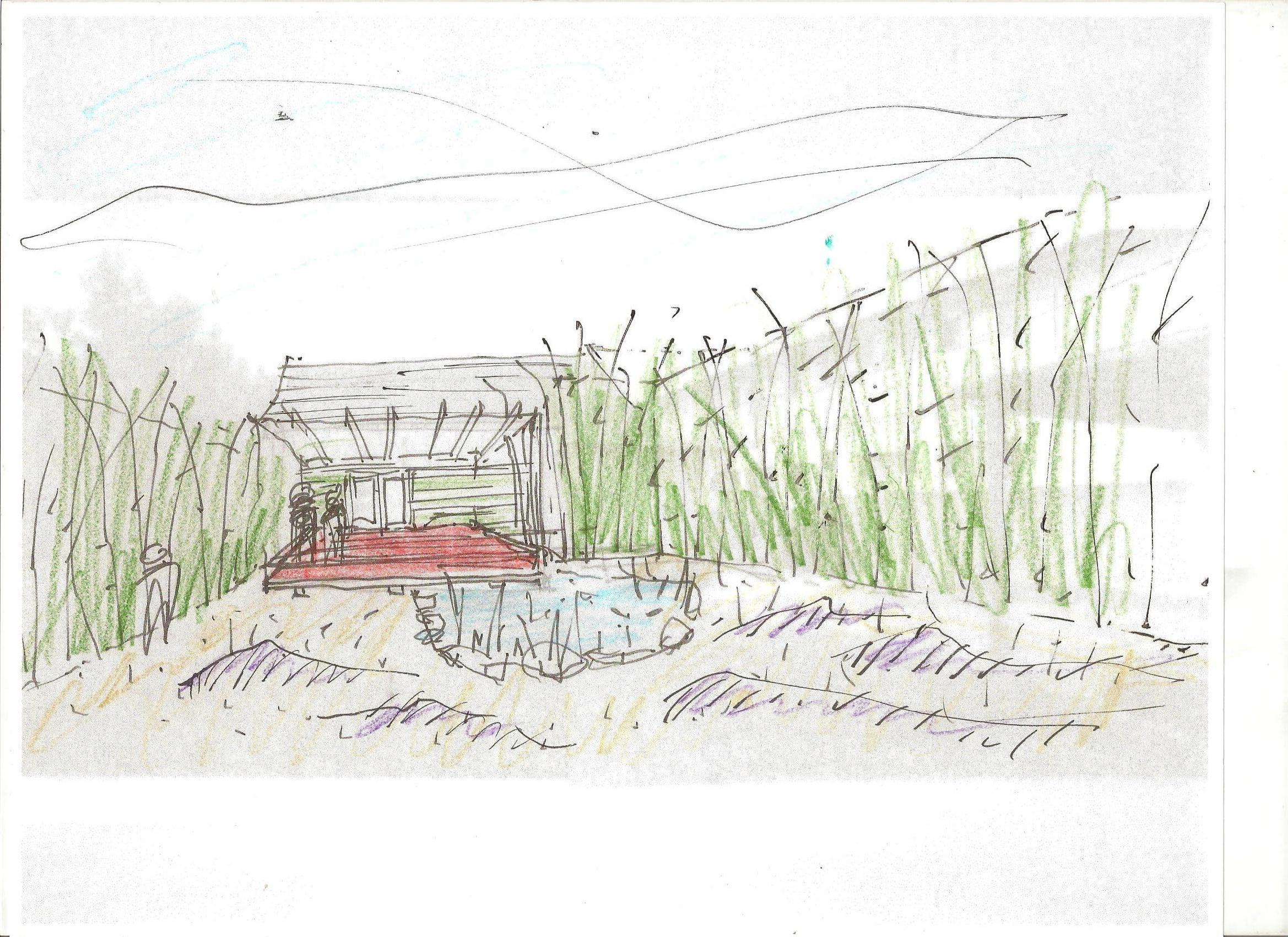 Eagle Rock garden sketch