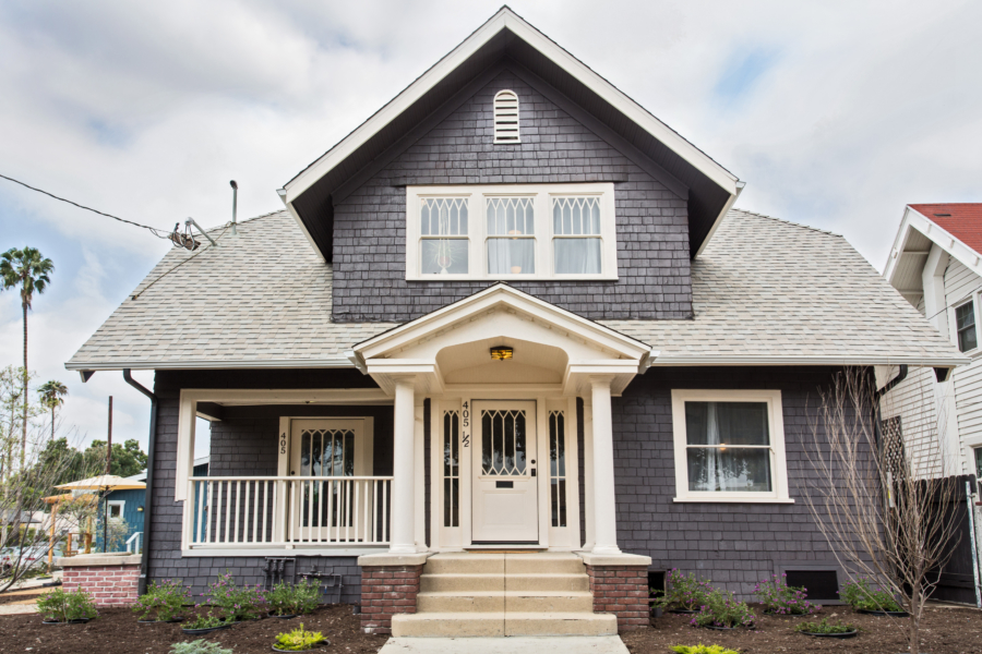 Highland Park Garvanza HPOZ Restoration of a 1916 Shingle-Transitional Style Residence